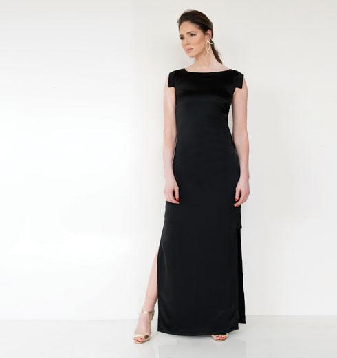 שמלה, 1,390 שקל, פזית קידר. עגילים, 215 שקל, פזית קידר. סנדלים, 400 שקל, אלדו (צילום: עדו לביא, סטיילינג: תמי ארד-ברקאי)