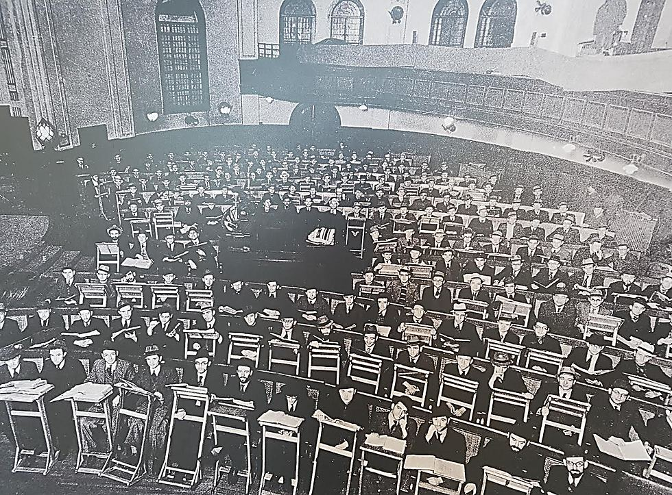 A Jewish Beit Midrash (study hall) in China during the war