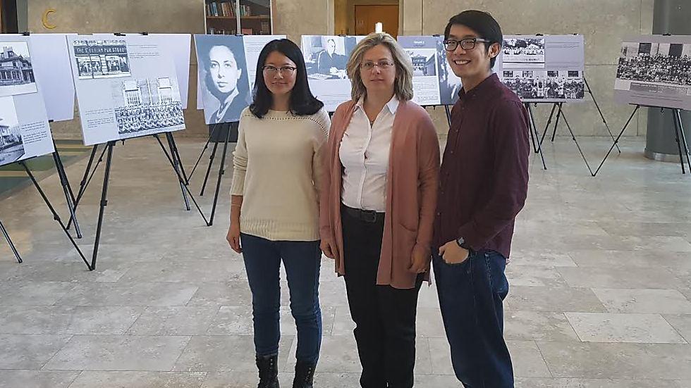 Amos Lin, Dr. Danielle Gurevitch and Xiu Gao