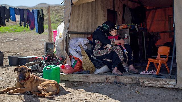 The Bany Maniya clan in Khirbet 'Ein al-Karzaliyah (Photo: Ohad Zwigenberg) (Photo: Ohad Zwigenberg)