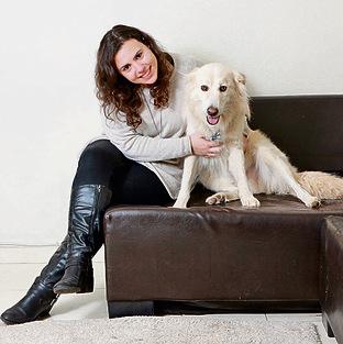 """""""רעיון מגניב, אבל מעדיפה להשאיר את הכלב אצל המשפחה"""". אנה גוטקין   צילום: דנה קופל"""