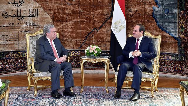 UN Secretary-General António Guterres and Egyptian President Abdel Fattah el-Sisi (Photo: EPA) (Photo: EPA)
