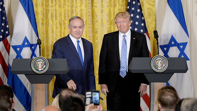 Wednesday's press conference. The United States in the Trump era is clearly standing by the State of Israel (Photo: MCT) (Photo: MCT)