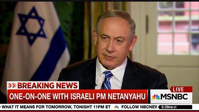 Benjamin Netanyahu on MSNBC