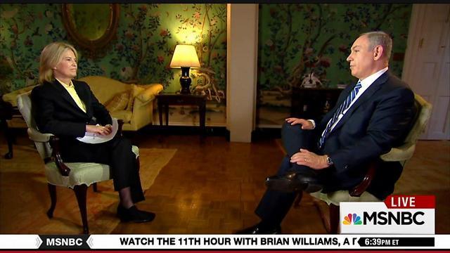 Netanyahu with MSNBC's Greta Van Susteren