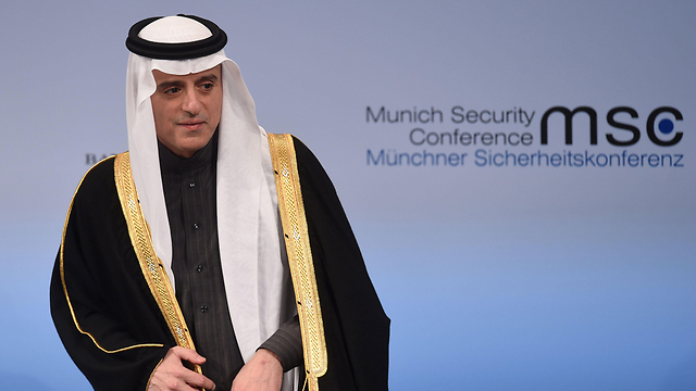 Adel al-Jubeir speaking at the Munich Security Conference (Photo: AFP)
