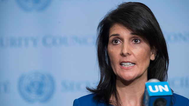 """Nikki Haley: """"They put their friends in the Assad regime ahead of our global security"""" (Photo: AP)"""