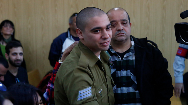 Elor Azaria in court. 'He is knowingly violated the orders' (Photo: Tomer Appelbaum)