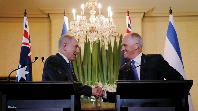 Prime Minister Malcolm Turnbull with PM Netanyahu (Photo: AP)
