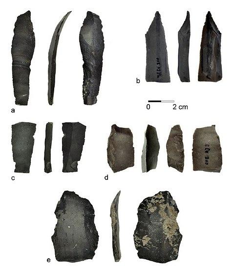 להבים שבהם השתמשו לפני 23 אלף שנה באזור הכנרת (צילום: באדיבות איריס גרומן-ירוסלבסקי ודני נדל)