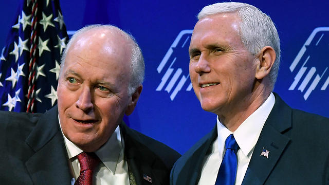 Mike Pence and former Vice President Dick Cheney (Photo: AFP) (Photo: AFP)