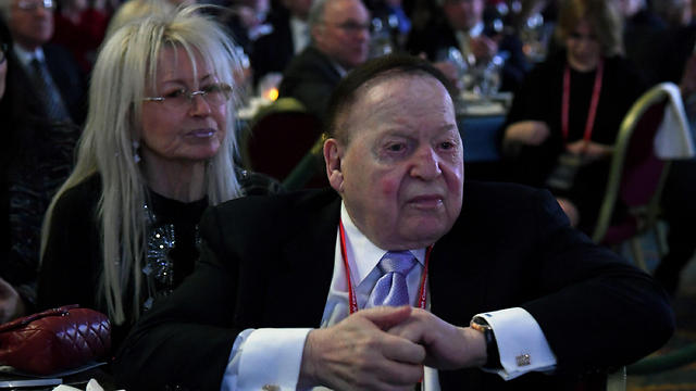 Sheldon Adelson and his wife, Dr. Miriam Adelson (Photo: AFP) (Photo: AFP)