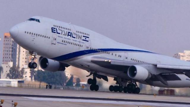מטוס בואינג 747 של אל על (צילום: דני שדה)