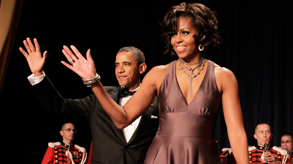 Former president Obama and Michelle Obama at the same event (Photo: AP)