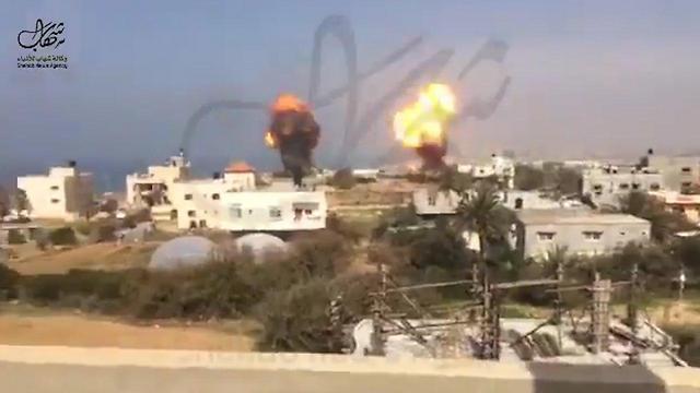 Izrael válasz-légicsapások