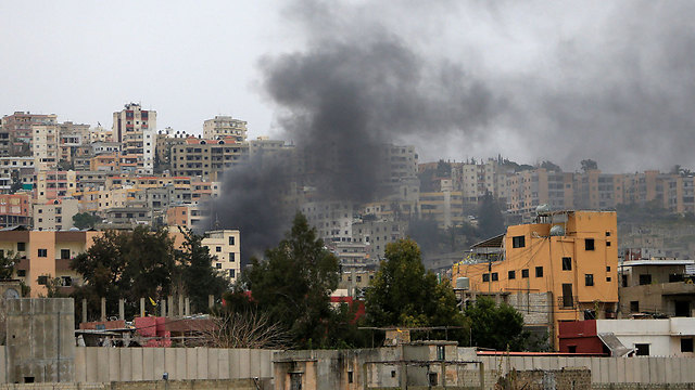 Smoke rising from the camp (Photo: Reuters)
