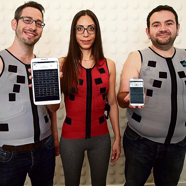 ECG shirt (Photo: Yariv Katz)