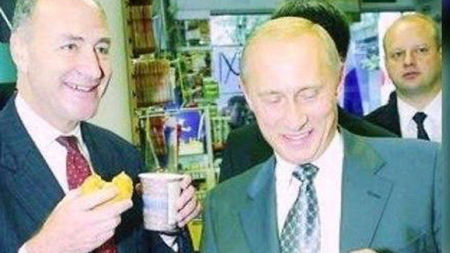 A picture of Senator Schumer and Putin from 2003