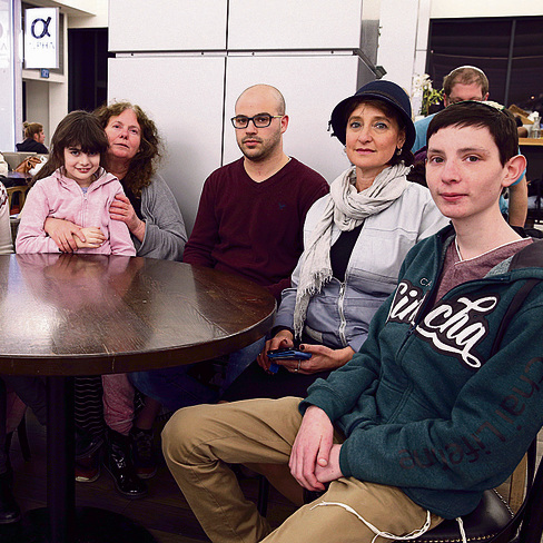 Some of the concerned parents and their children (Photo: Amit Shabi)