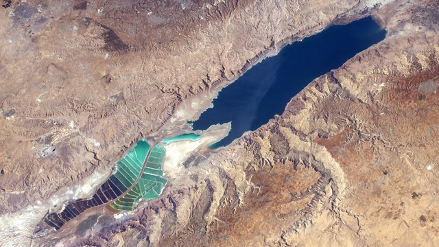 How the Dead Sea looks from outer space (Photo: Thomas Pesquet)