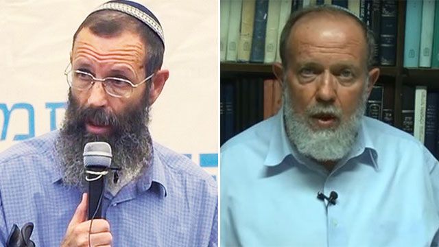 Rabbis Yigal Levinstein (L) and Eli Sadan (R)