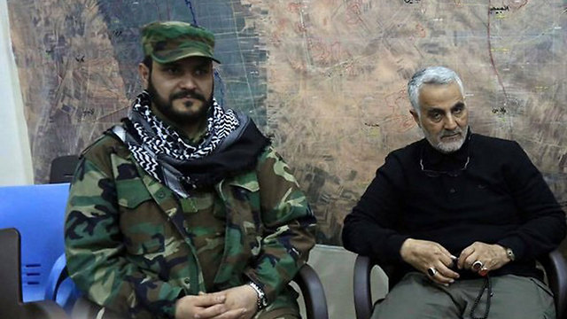 Soleimani and al-Kabi (Photo: Ronon Solomon's blog)