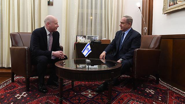 Netanyahu and Greenblatt (Photo: Kobi Gideon, GPO)