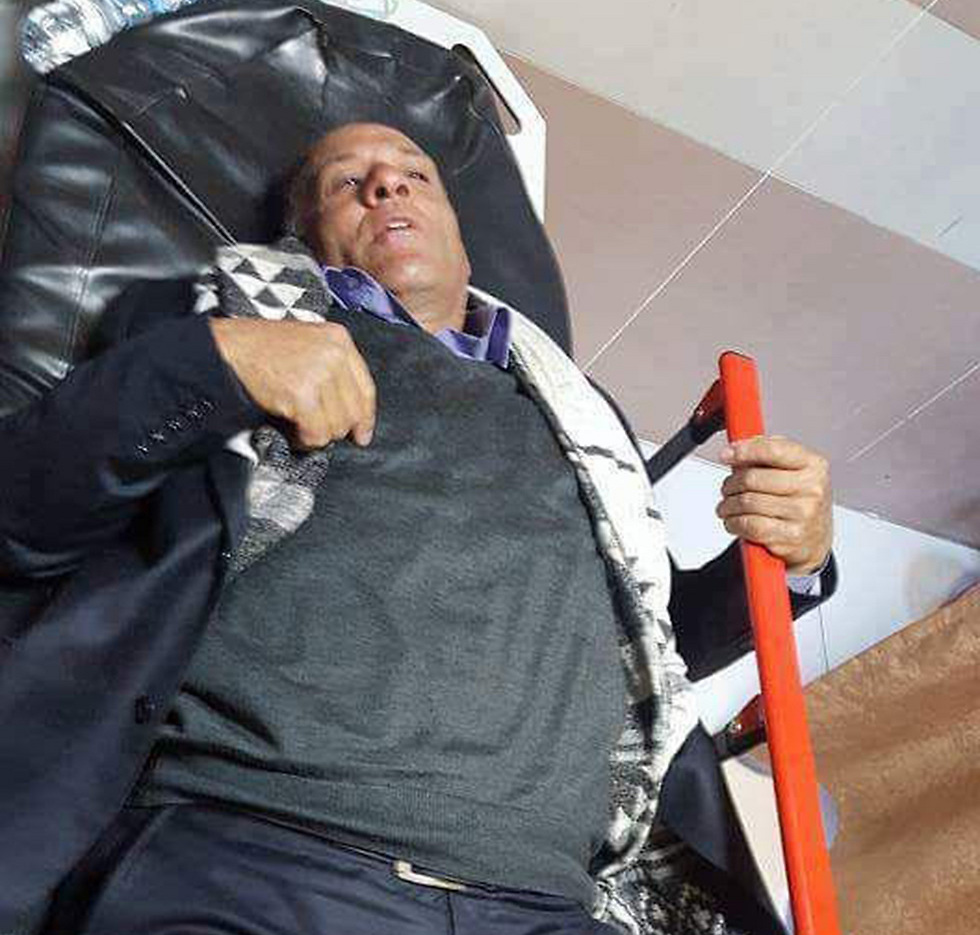Al-Araj's father after being injured in a demonstration