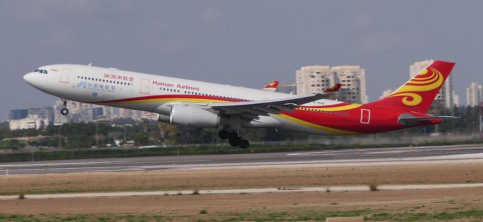 מטוס חברת היינאן (צילום: דני שדה)