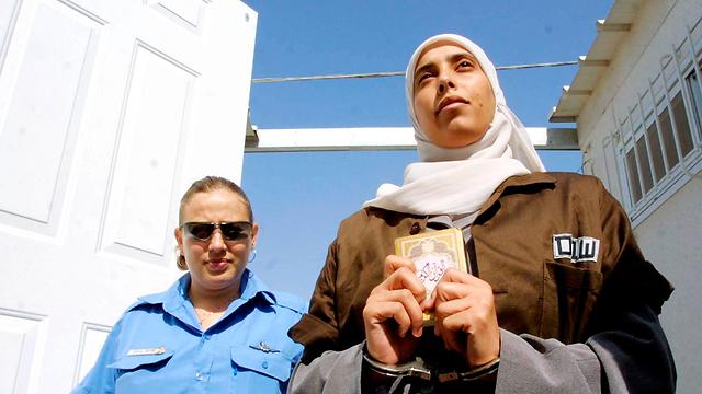 המחבלת אחלאם תמימי בבית כלא בישראל. ארכיון (צילום: דן בלילטי)
