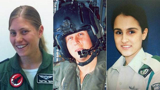 From right to left: Hadar Cohen, Keren Tendler and Tamar Ariel (Photo: IDF Spokesperson's Unit)