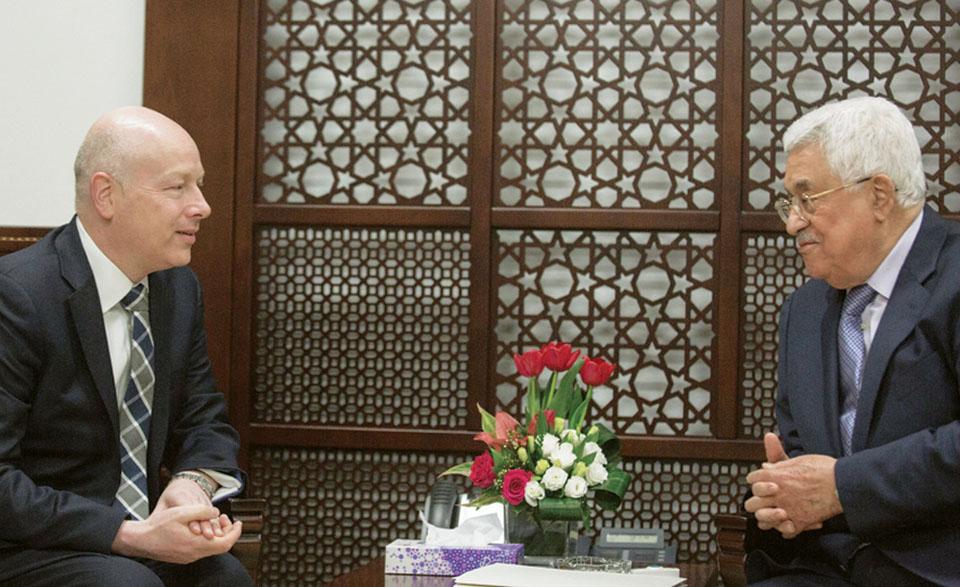 Встреча Джейсона Гринблатта с Абу-Мазеном в Рамалле. Фото: AFP