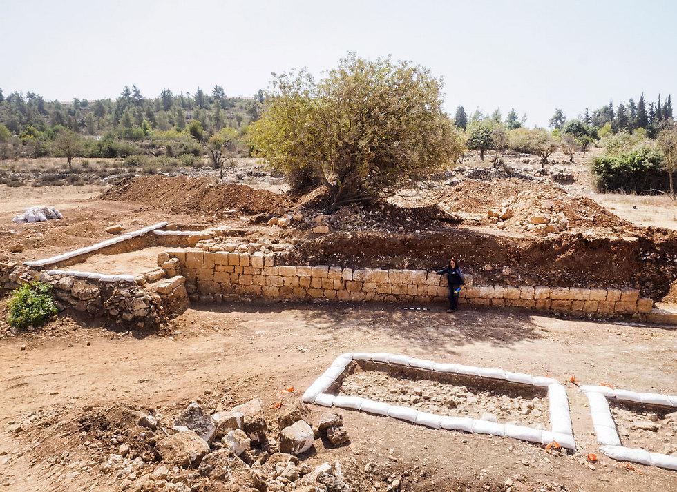 The excavation site (Photo: Yoli Shwartz, courtesy of the Israel Antiquities Authority)