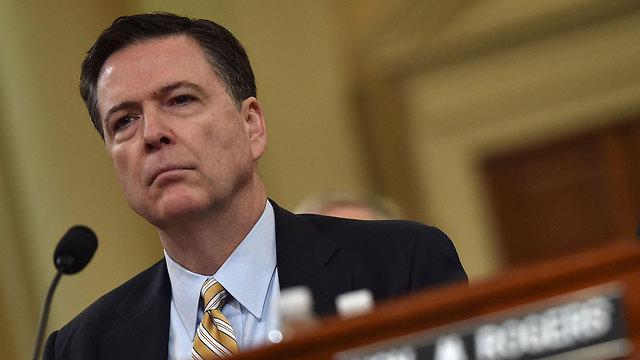 """ג'יימס קומי, הערב בשימוע בקונגרס. """"לא יכול לספק פרטים נוספים"""" (צילום: AFP)"""