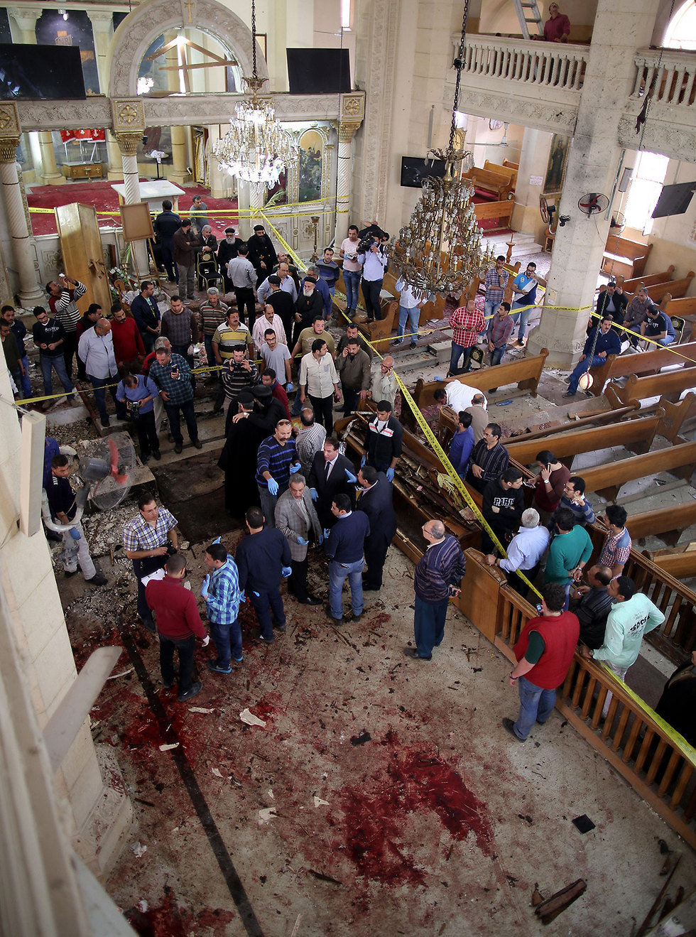 Scene of the Palm Sunday attack (Photo: EPA) (Photo: EPA)