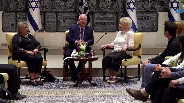 Auschwitz survivor recounts her harrowing story to Israeli president