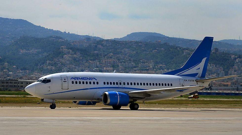 מטוס חברת התעופה הארמנית. בדרך לישראל (צילום: Armenia Aircompany)