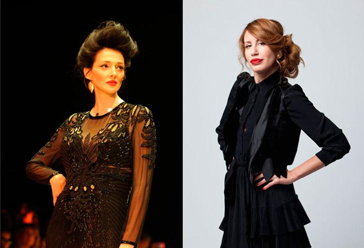 דורית בר אור והקולקציה שהציגה בשבוע האופנה תל אביב. ''אני רוצה ליצור תחושה של חייטות מפעם, להחזיר את ההוט קוטור'' (צילום: דלית שחם, אוהד רומנו)