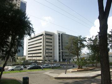 בניין צ'ק פוינט כיום, מכיוון שדרות ההשכלה (הדמיה: ניר – קוץ אדריכלים)