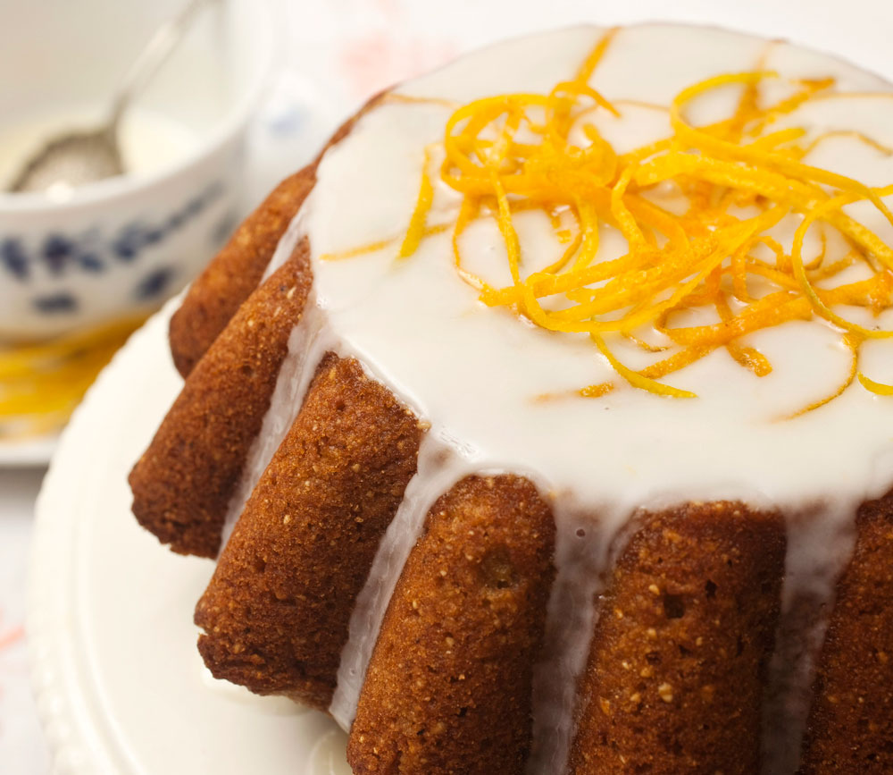 בלי טיפת גלוטן. עוגת תפוזים מזוגגת ( צילום: רן גולני, סגנון: נעמה רן )