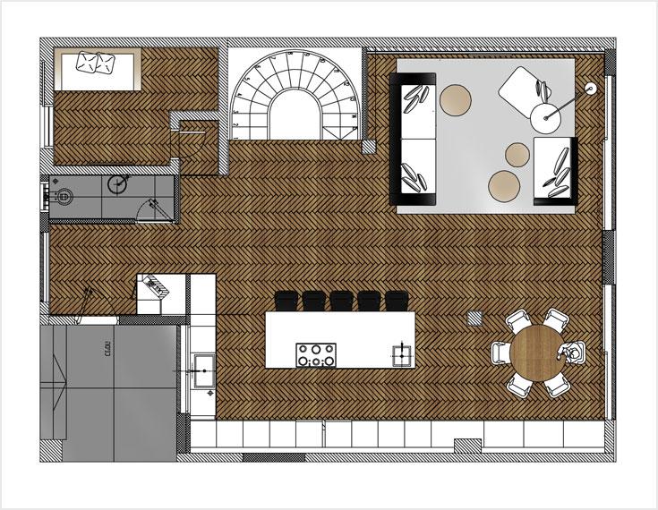 תוכנית הקומה, ''אחרי'': החלל עוצב מחדש (באדיבות קרן אופנר)