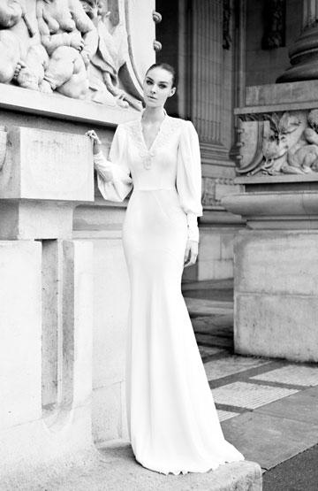 שמלת כלה עם שרוולים. לא רק לשומרות מסורת (צילום: גלעד סספורטה)