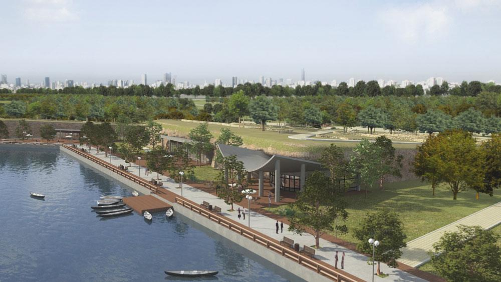 כך זה אמור להיראות בעתיד, כשיושלם הפרויקט (באדיבות עליזה ברוידא, אלבטרוס, פארק אריאל שרון)