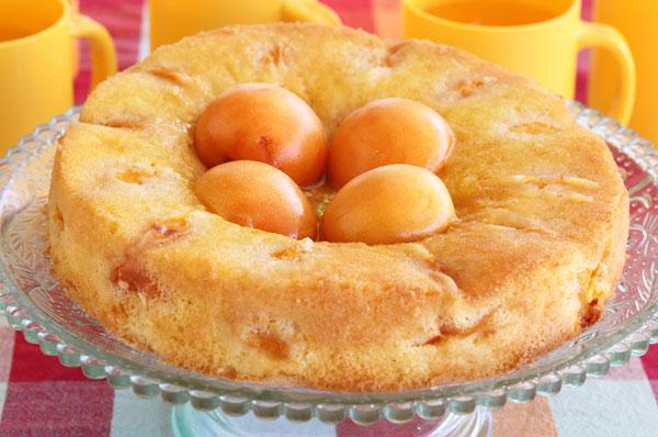 עוגת משמשים הפוכה (צילום: אסנת לסטר)