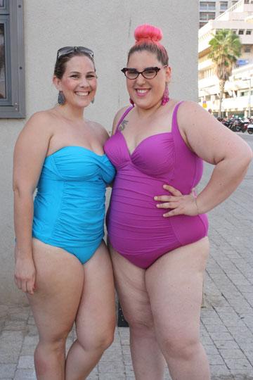 """גאלה רחמילביץ' (מימין). """"זה לא דיון על שומן, זה דיון על נשים ונשיות"""" (באדיבות בית הספר לסטיילינג GALA'STYLE )"""
