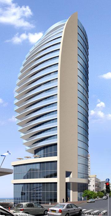 מלון אסטור המתוכנן (הדמיה: לאה רובננקו אדריכלים)