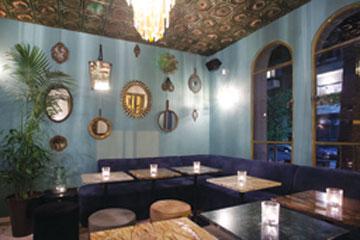מסעדת אבושדיד. שפע של צבעים וחומרים. עיצוב: אמי שחר וסלומה פקיאל