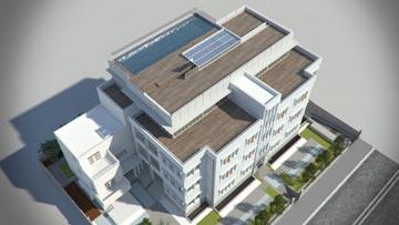 הדמיה של מלון נורמן (הדמיה: 3d vision יואב מסר)