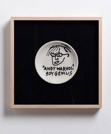 בסקיאט על וורהול. copyright © The Estate of Jean-Michel Basquiat. Licensed by Artestar, New York  (צילום: אלעד שריג)
