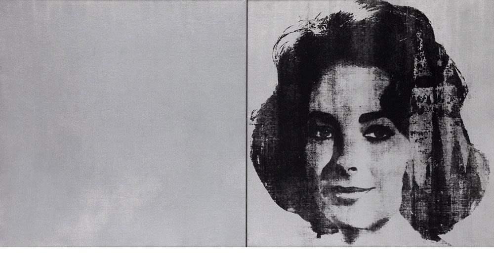 תנועת הפופ-ארט העלתה דימויים מהתרבות הפופולרית לדרגת אמנות. כאן בתמונה אחת הכוכבות הגדולות של אנדי וורהול - אליזבת טיילור. עוד בתערוכה: מרילין מונרו, ג'ודי גארלנד, ג'קי קנדי, אלביס פרסלי ומאו טסה דונג. © 2013, The Andy Warhol Foundation for the Visual Arts, Inc. / Artists Rights Society (ARS), New York (צילום רפרודוקציה: אלעד שריג)